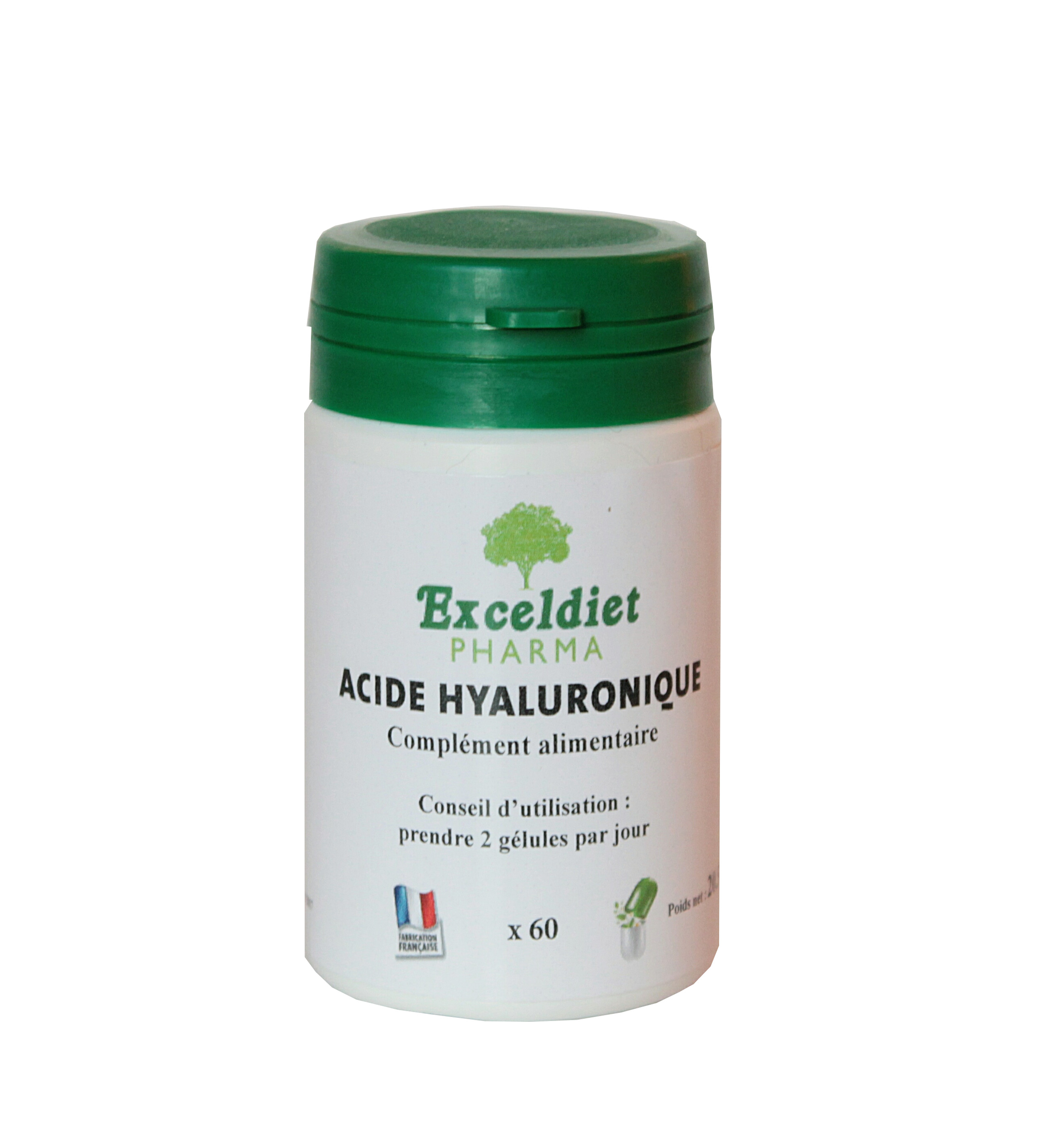 acide hyaluronique 60 g lules soin visage articulation exceldiet pharma. Black Bedroom Furniture Sets. Home Design Ideas