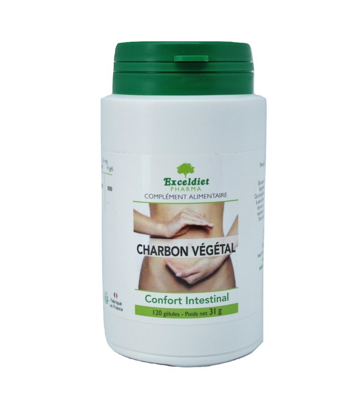Charbon végétal 60 et 120 Gélules - Troubles digestifs ...