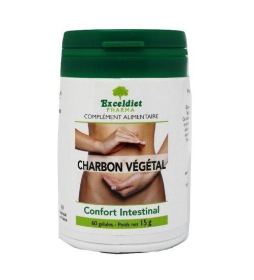 Charbon végétal activé luttant contre les troubles digestifs